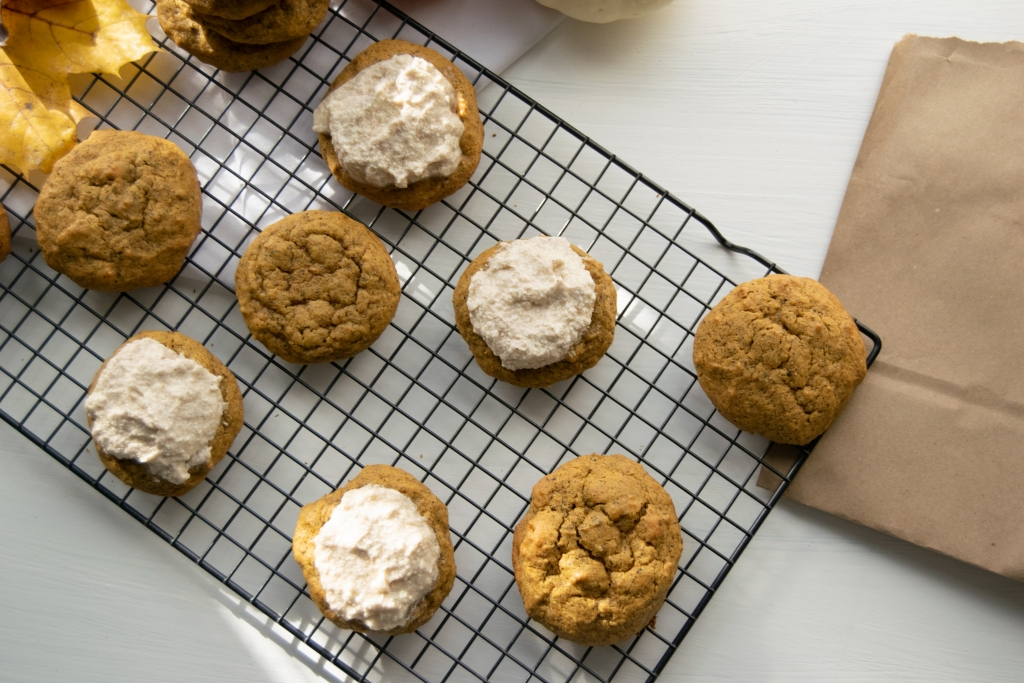 Pumpkin Spice Masala Chai Tea Infused Cookies Recipe With Cream Cheese Frosting